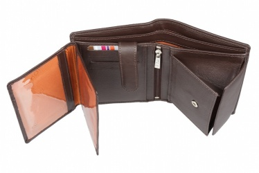 Brown Mala Leather Origin Notecase Wallet With RFID